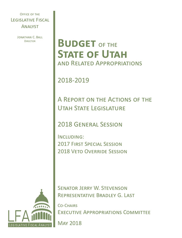Link to the LFA 2018-2019 Budget of the State of Utah