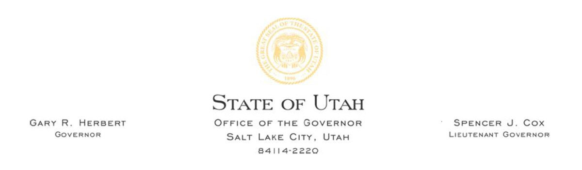 State of Utah Press Release Letterhead
